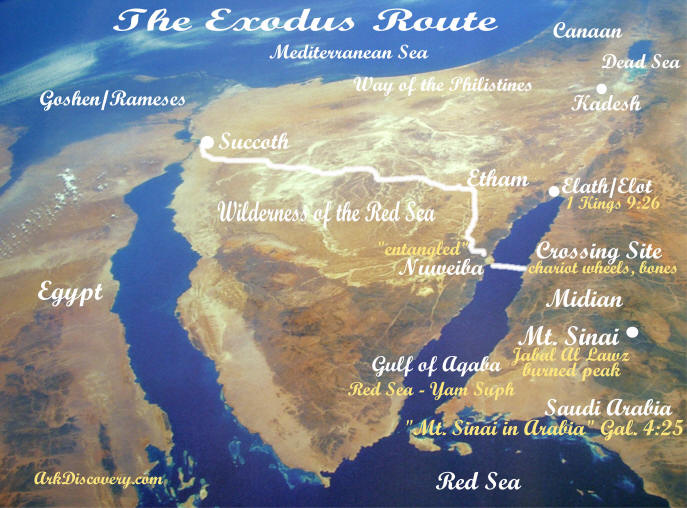 Exodus Route And Red Sea Crossing