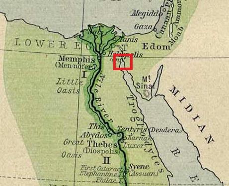 The AlephTav Project Holidays And Holy Days The Exodus Story - Map of egypt goshen