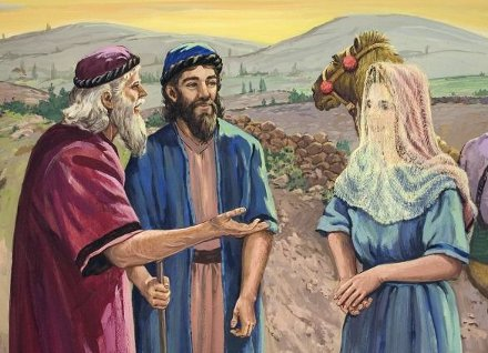 Eliezer, Isaac And Rebekah
