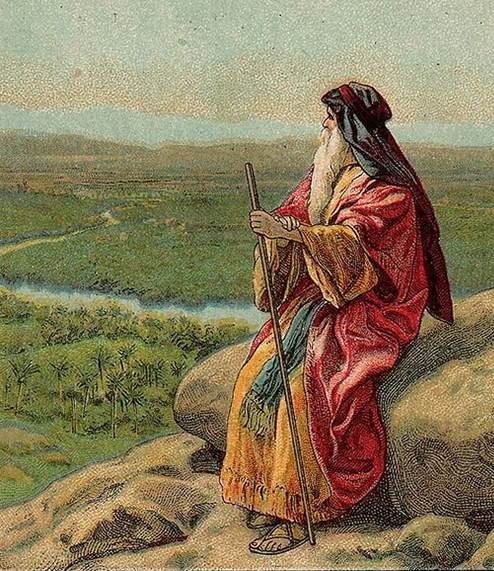 Moses On Mount Pisgah